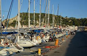 Fotos Griechenland Bootssteg Segeln Jacht Zakynthos Städte