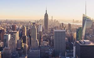 Fotos Haus Wolkenkratzer Vereinigte Staaten New York City Empire State Building Städte