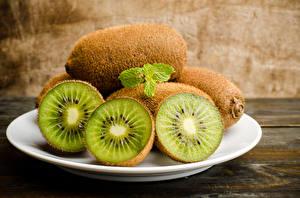 Photo Kiwi Closeup Plate Food