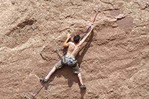 Pictures Man Mountaineering Crag Human back Climber Sport