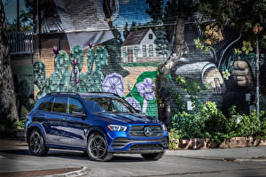 Pictures Mercedes-Benz Metallic Blue 2019 GLE 350 4MATIC AMG Line Cars