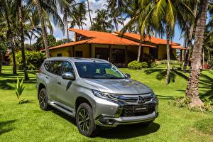 Hintergrundbilder Mitsubishi Grau 2018 Pajero Sport Latam