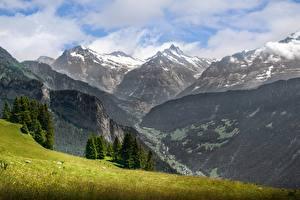Hintergrundbilder Gebirge Landschaftsfotografie Schweiz Gras Alpen