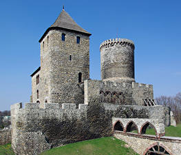 Images Poland Castle Made of stone Bedzin Castle Cities