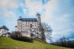 Image Poland Castles Hill Bobolice Castle