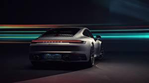 Wallpapers Porsche Back view 911 Carrera 4S 2019 auto