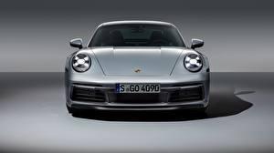Bilder Porsche Vorne Silber Farbe 911 Carrera 4S 2019 Autos