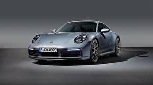Bilder Porsche Silber Farbe Vorne 911 Carrera 4S 2019 Autos