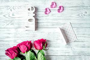 Hintergrundbilder Rosen Valentinstag Herz Bretter