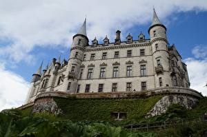 Tapety na pulpit Szkocja Zamek Dunrobin Castle Miasta