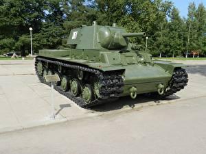 Hintergrundbilder Panzer Denkmal Russland KV-1