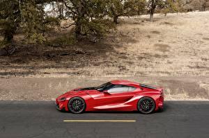 Fotos Toyota Seitlich Rot 2014 FT-1 Concept Autos