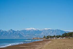 Pictures Turkey Coast Spa town Mountains Beaches Antalya Nature