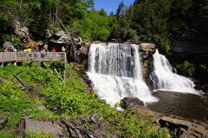 Fotos Vereinigte Staaten Flusse Wasserfall Felsen West Virginia, Monongahela river, Blackwater Falls Natur