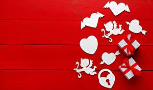 Wallpapers Valentine's Day Heart Gifts Red background