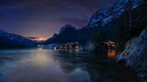 Fotos Österreich Gebirge See Sonnenaufgänge und Sonnenuntergänge Alpen Hintersee, Ramsau Natur