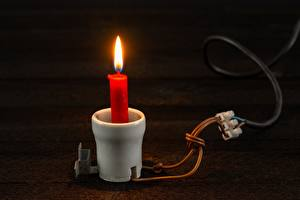 Photo Candles Flame Creative Electric wire