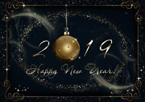 Fotos Neujahr 2019 Kugeln Englisch
