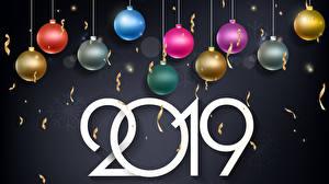 Hintergrundbilder Neujahr 2019 Kugeln Bunte