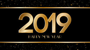 Pictures New year 2019 Black background English