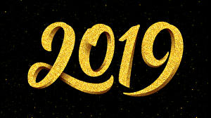 Image New year Black background 2019