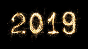Photo New year Black background 2019
