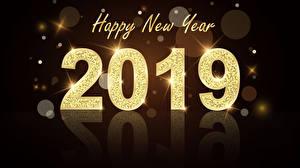 Hintergrundbilder Neujahr Schwarzer Hintergrund Englisch 2019
