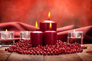 Hintergrundbilder Neujahr Kerzen Flamme Rot
