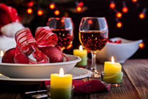Hintergrundbilder Neujahr Champagner Kerzen Weinglas Schleife Lebensmittel