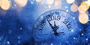 Fotos Neujahr Zifferblatt 2019 Schnee