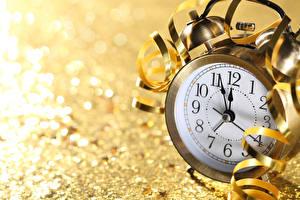 Papel de Parede Desktop Ano-Novo Relógio Mostrador de relógio   Despertador De perto