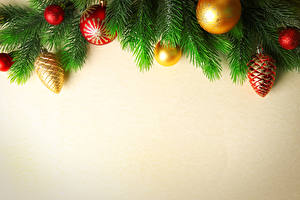 Wallpapers Christmas Colored background Branches Balls