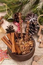 Hintergrundbilder Neujahr Süßigkeiten Zimt Sternanis