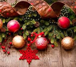 Hintergrundbilder Neujahr Bretter Ast Band Stern-Dekoration Kugeln