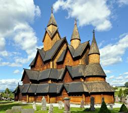 Hintergrundbilder Kirchengebäude Norwegen Hölzern Heddal Stave Church