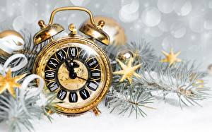 Sfondi desktop Orologio Quadrante orologio Sveglia Anno nuovo Piccole stelle