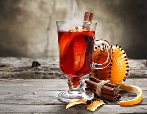 Bilder Getränke Zimt Orange Frucht Bretter Tasse Lebensmittel