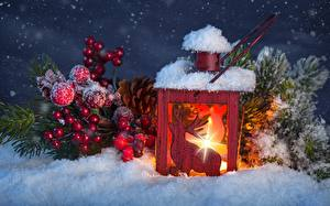 Picture Flame Berry Snow Lamp Balls