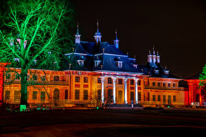 Wallpapers Germany Houses Palace Night time Trees Schloss Pillnitz Cities