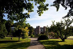 Hintergrundbilder Deutschland Park Haus Rasen Bäume Strauch Karlsruhe Botanic Garden