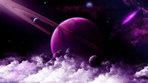 Wallpapers Planets Clouds 3D_Graphics
