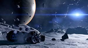 Bureaubladachtergronden Planeten Stenen Planeet oppervlak Mass Effect Andromeda computerspel 3D_graphics
