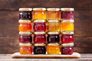 Images Fruit preserves Jar Food