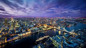 Hintergrundbilder Flusse Brücken England Abend London Megalopolis Städte