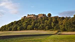 Fotos Schottland Wälder Burg Landschaftsfotografie Gras Sterling castle Natur