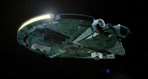 Photo Star Wars - Movies Starship Ships Millennium Falcon 3D_Graphics