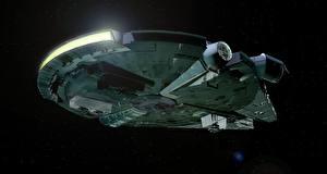 Photo Star Wars - Movies Starship Ship Millennium Falcon Movies 3D_Graphics