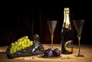 Bilder Stillleben Wein Weintraube Flasche Weinglas