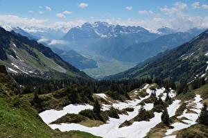 Fotos Schweiz Gebirge Landschaftsfotografie Alpen Schnee Glarus, Mountain Glares, Braunwald