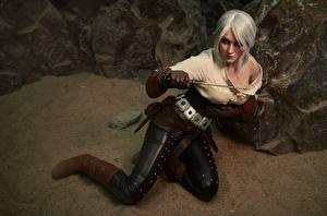 Hintergrundbilder The Witcher 3: Wild Hunt Krieger Ciri Blondine Junge frau Mädchens